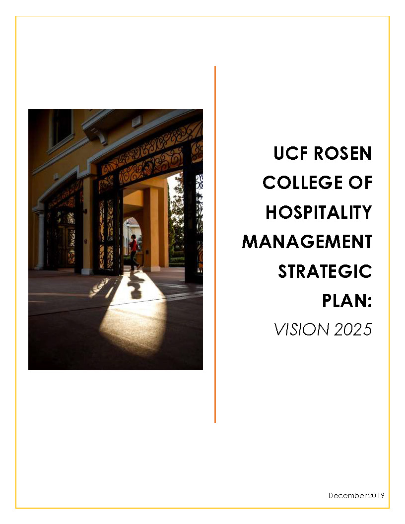 UCF Rosen College Strategic Plan cover